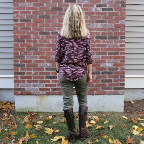 Market & Spruce Sawyer Space Dye Dolman Sleeve Knit Top and KUT from the Kloth Brayden Cargo Skinny Pant