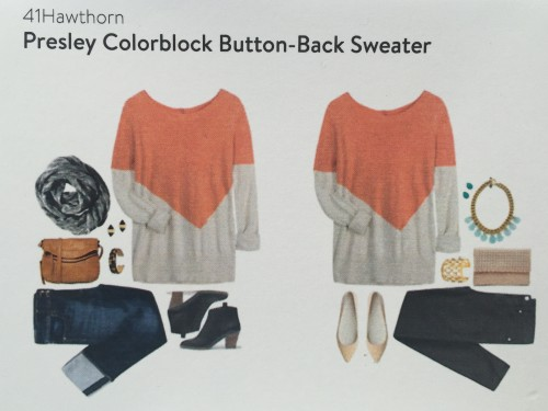 41 Hawthorn Presley Colorblock Button-Back Sweater