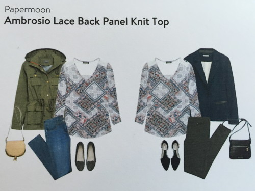 Papermoon Ambrosio Lace Back Panel Knit Top