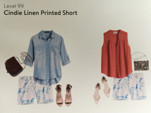 Level 99 Cindie Linen Printed Short