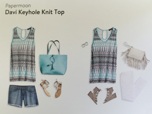 Papermoon Davi Keyhole Knit Top